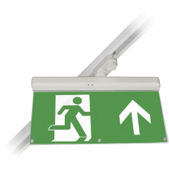 Track Emergency EXIT LED Maintained White (Suitable for several makes of 3 Circuit Track)