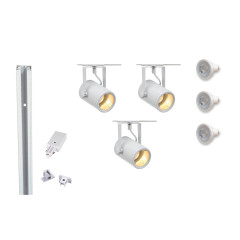 MLS 800059 Eurospot GU10 x 3 Track Kit White