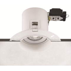 Fire Rated Plaster-in Adjustable GU10 Recessed Downlight