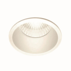 Inox S Trim White GU10 Downlight, Cut Out 57mm, depth 130mm, Dimmable, Requires GU10 LED
