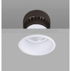 12W LED Trim Downlight White 2700K Mains Dimmable