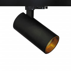 Shooter GU10 Track Spot Black with Gold inset Dimmable requires a GU10 LED