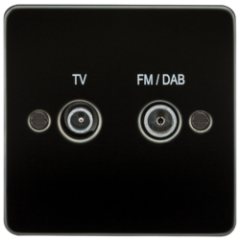 MLS MG0610PF Flat Plate Screened Diplex Outlet Tv & Fm Dab Gunmetal