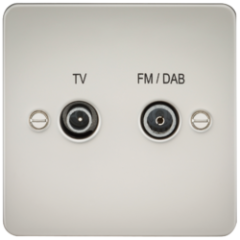 Flat Plate Screened Diplex Outlet Tv and Fm Dab Pearl