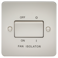 Flat Plate 10A 3 Pole Fan Isolator Switch Pearl