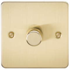 MLS BB1612PF Flat Plate 1G 2 Way Dimmer 60-400W Brushed Brass