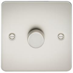MLS LP1612PF Flat Plate 1G 2 Way Dimmer 60-400W Pearl
