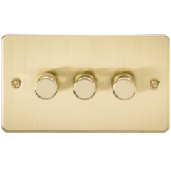 MLS BB3612PF Flat Plate 3G 2 Way Dimmer 60-400W Brushed Brass