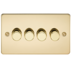 MLS BP4612PF Flat Plate 4G 2 Way Dimmer 60-400W Polished Brass
