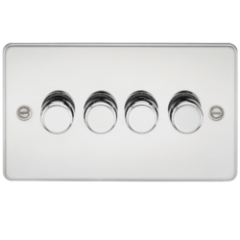 MLS CP4612PF Flat Plate 4G 2 Way Dimmer 60-400W Polished Chrome