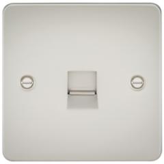 MLS LP0037PF Flat Plate Telephone Master Socket Pearl