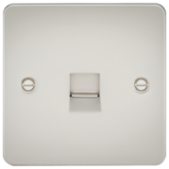 Flat Plate Telephone Extension Socket Pearl
