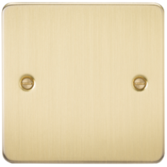 Flat Plate 1G Blanking Plate Brushed Brass