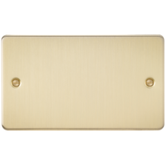 Flat Plate 2G Blanking Plate Brushed Brass