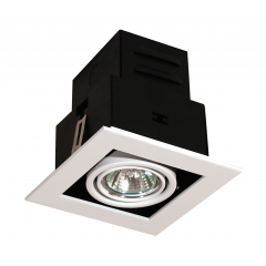 Single Square Multi Directional GU10 Downlight White