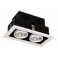 Twin Multi Directional GU10 Downlight White