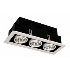 Triple Multi Directional GU10 Downlight White