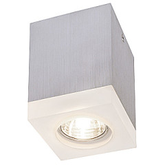 SLV 114740 Tigla Square Downlight with satin finish glass