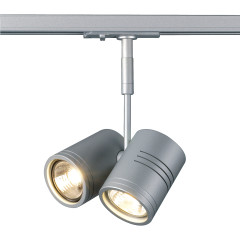 SLV 143432 Bima II Spot Light Silver Grey Dimmable, requires 2 x GU10 LED