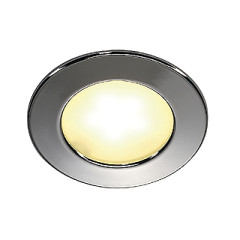 Downlight, DL 126 LED, round, chrome, 3W LED, warm white, 12V 150lm 3000K