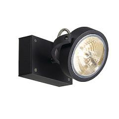 SLV 147250W KALU 1 wall and ceiling luminaire Matt Black QRB111