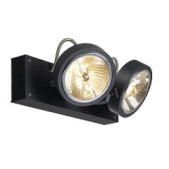 SLV 147260W KALU 2 wall and ceiling luminaire Matt Black QRB111