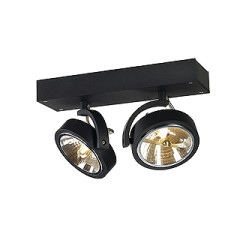 Kalu 2 Wall and ceiling luminaire, matt black, 50W, normal or LED Lamp, Trailing Edge Dimmable