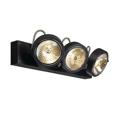 SLV 147270W KALU 3 wall and ceiling luminaire Matt Black 3x QRB111