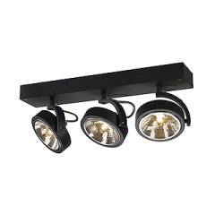 SLV 147270 KALU 3 wall and ceiling luminaire Matt Black 3x QRB111