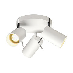 SLV 147414 ASTO TUBE 3 wall and ceiling Round canopy White 3xGU10