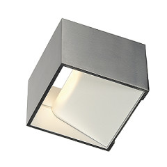SLV 151325 LOGS IN wall lamp Square Alu Brushed 5W LED 3000K
