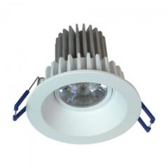 MLS LEDRT8WW3 Round 8W Dimmable 3000K LED White Tilt Downlight