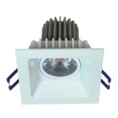 MLS LEDSQT8WW3 Square 8W Dimmable 3000K LED White Tilt Downlight