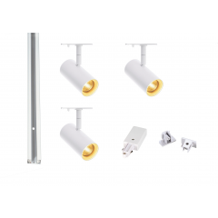 MLS 800157 Noblo x 3 Track Lighting Kit White (1m Track Kit) Non Dimmable