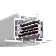Powergear PRO-R630-W Recessed Dali Multi Circuit Track White 3m