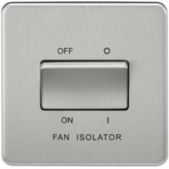 MLS CB0011FS Screwless 10A 3 Pole Fan Isolator Switch Brushed Chrome