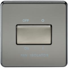 MLS NB0011FS Screwless 10A 3 Pole Fan Isolator Switch Black Nickel
