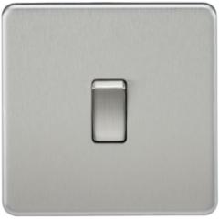 MLS CB0021FS Screwless 10A 1G Intermediate Switch Brushed Chrome
