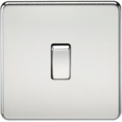 MLS CP0021FS Screwless 10A 1G Intermediate Switch Polished Chrome