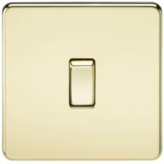 MLS BP0002FS Screwless 10A 1G 2 Way Switch Polished Brass