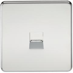 MLS CP0037FS Screwless Telephone Master Socket Polished Chrome