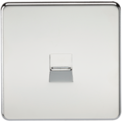 MLS CP0047FS Screwless Telephone Extension Socket Polished Chrome