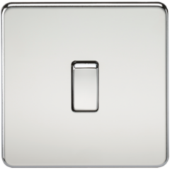Screwless 20A 1G Dp Switch Polished Chrome