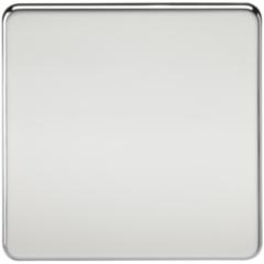 Screwless 1G Blanking Plate Polished Chrome