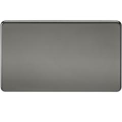MLS NB0638FS Screwless 2G Blanking Plate Black Nickel