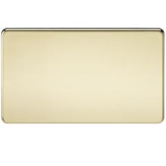 MLS BP0638FS Screwless 2G Blanking Plate Polished Brass