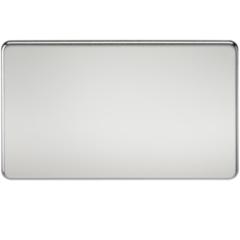 Screwless 2G Blanking Plate Polished Chrome