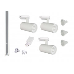 MLS 800170 Shooter x 3 Track Kit White (1m Track Kit) Dimmable