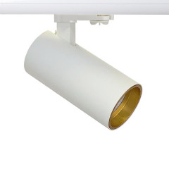 Shooter GU10 Track Spot White with Gold inset Dimmable requires a GU10 LED