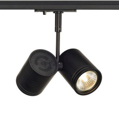 SLV 143430 Bima II Spot Light Black Dimmable, requires 2 x GU10 LED